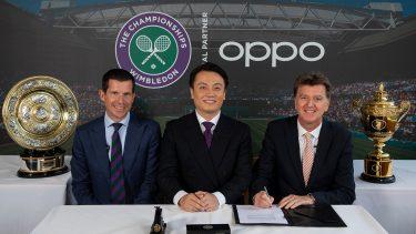 ウィンブルドン、OPPOと公式スマートフォンパートナー契約