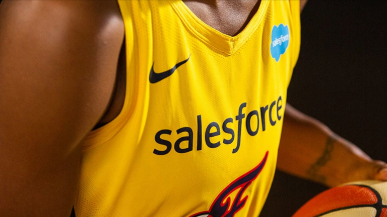 basketball,salesforce,indiana Fever