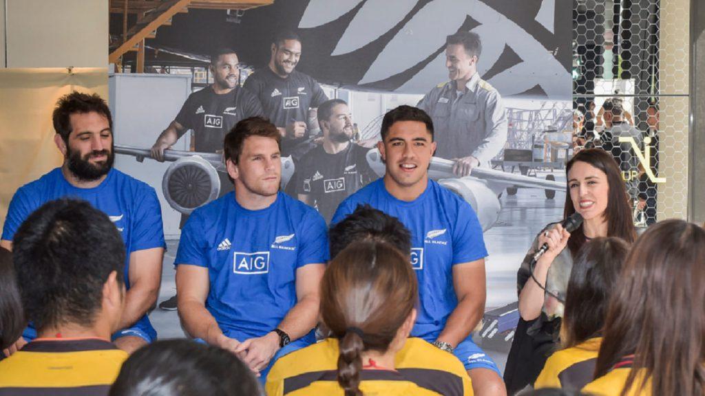 Sam Whitelock Matt Todd Anton Lienert-Brown All Blacks Jacinda Ardern New Zealand