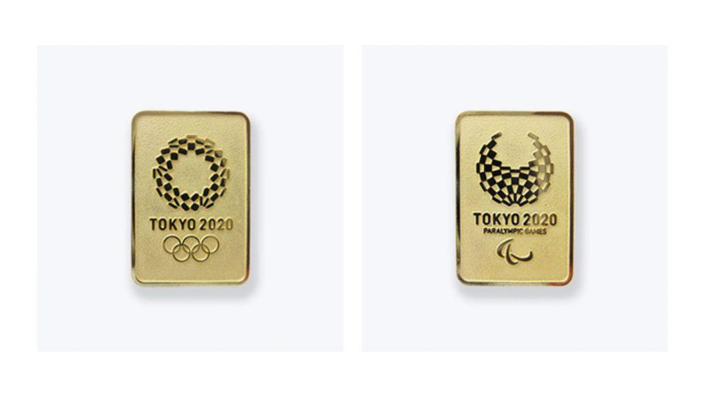 Olympic Paralympic Pin badge Gold Tokyo2020