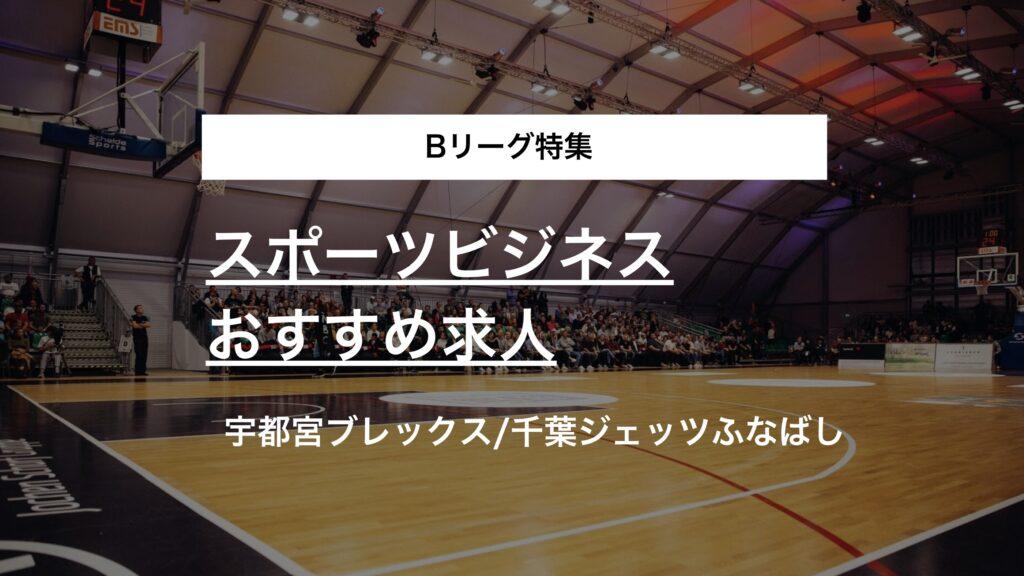 【Bリーグ特集】宇都宮ブレックス、千葉ジェッツふなばしのスポーツビジネス求人